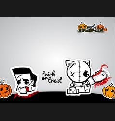 Helloween evil voodoo doll pop art comic vector