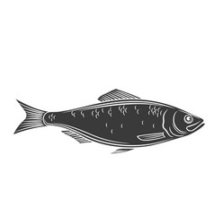 Herring fish glyph icon vector