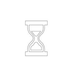 hourglass flat icon vector image