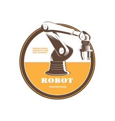 industrial robot for the automation of production vector image
