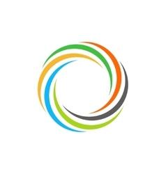 Isolated abstract colorful circular sun logo vector image