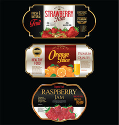 Jam and juice package design vector