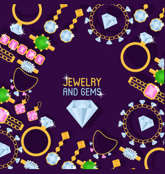 Jewelry shop set of banners vector
