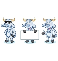 Light Blue Goat Mascot happy vector image