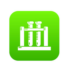 medical test tubes icon green vector image