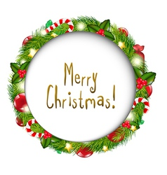 Merry Christmas Speech Bubble vector image