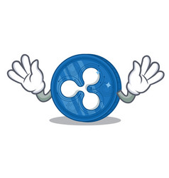 Mocking ripple coin character cartoon vector