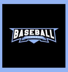 Modern professional logotype for a baseball vector
