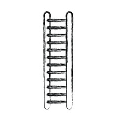 monochrome blurred silhouette of ladder vector image