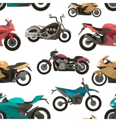 Motorcycle Icons set pattern vector image