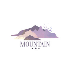 Mountain logo template tourism hiking and vector