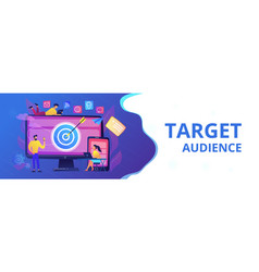 Multi device targeting concept banner header vector