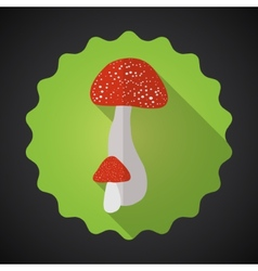 Mushrooms Bad Habits Flat icon background vector image