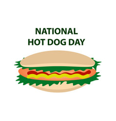 National day hot dog in usa 23 july vector
