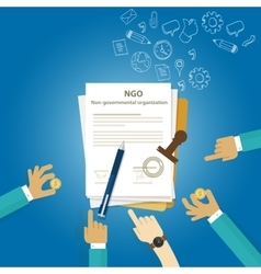 Ngo non government organization types business vector