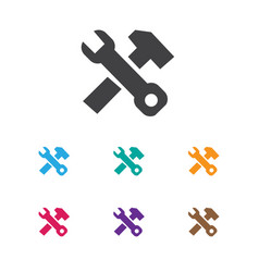 of service symbol on work vector image