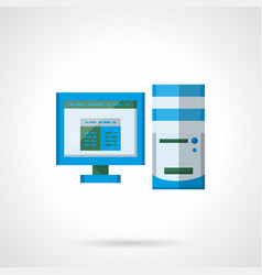 office computer flat color icon vector image