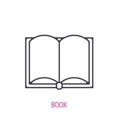 open encyclopedic book outline icon vector image