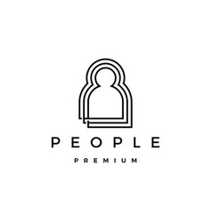people human together family logo icon vector image