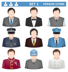 Person Icons Set 1 vector image
