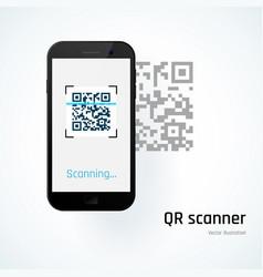Qr scanner mobile scans qr code vector