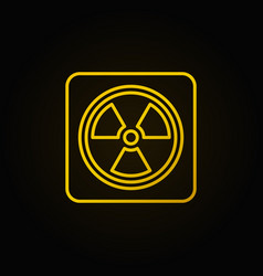 radiation concept linear yellow icon vector image