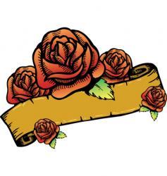 roses banner illustration vector image