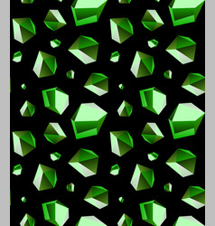 Seamless background of emerald stone crystal vector