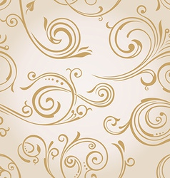 Seamless curves wallpaper Vintage background vector