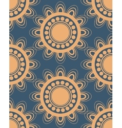 Seamless pattern in peach and blue vector image vector image