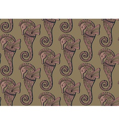 seamless pattern seahorses vector image
