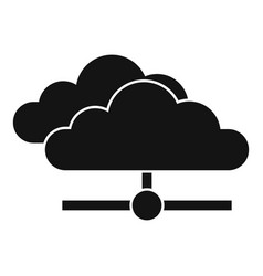 Server data cloud icon simple style vector