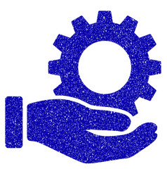 service gear icon grunge watermark vector image