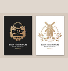 set bakery shop badge concept vector image
