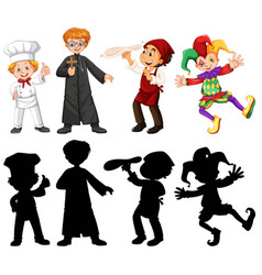 set of people character vector image