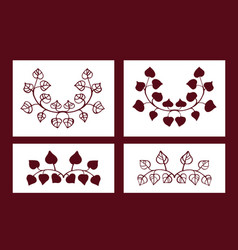 Set of stencils floral elements vector
