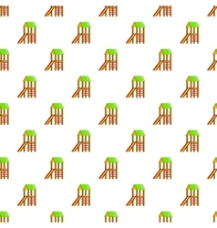 Slide house pattern cartoon style vector image