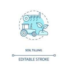 Soil tilling concept icon vector