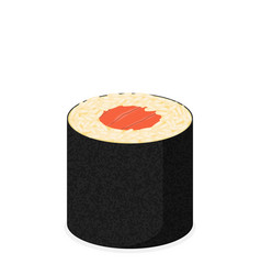 Sushi roll with nori modern flat design concept vector
