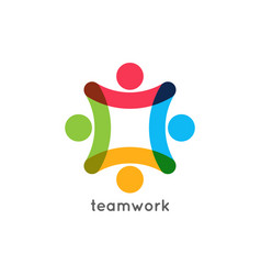 teamwork icon business concept team work union vector image
