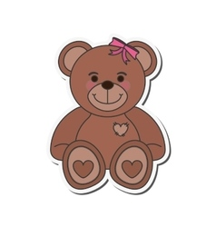 teddy bear icon vector image