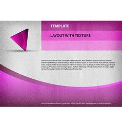 template purple curve vector image