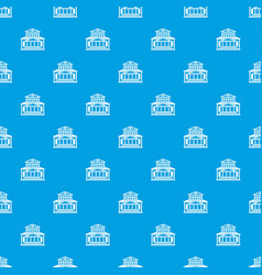 Theater building pattern seamless blue vector