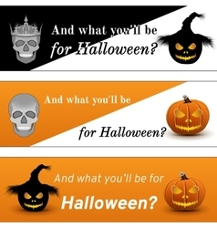 Three Halloween Poster vector image