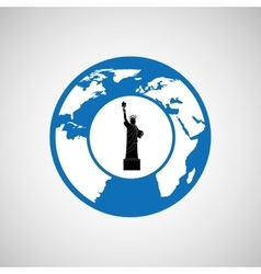 Traveling world new york monument design graphic vector
