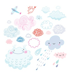 Various clouds vector