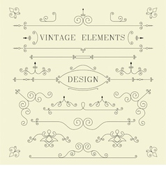 Vintage Design Borders Retro Elements Frame Ve vector