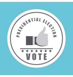 Vote design over white background vector