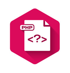 white php file document download php button icon vector image