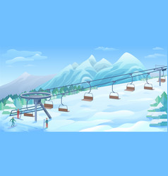 winter outdoor resort background vector image